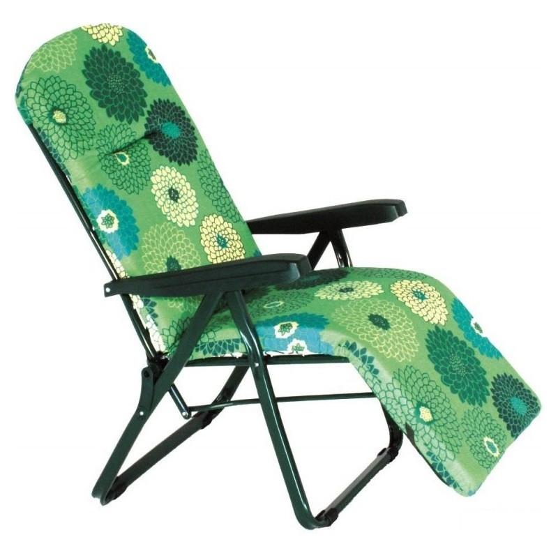 Poltrona Sedia Sdraio Amalfi.Sedia Sdraio Poltrona 6 Posizioni E Poggiapiedi Completa Di Cuscino