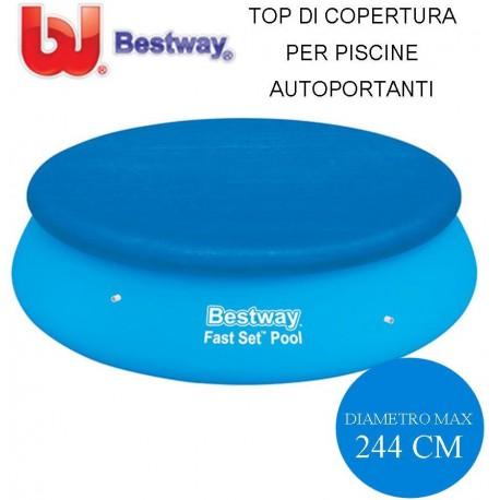 TOP DI COPERTURA PER PISCINE AUTOPORTANTI Ø CM. 244 - BESTWAY 58032