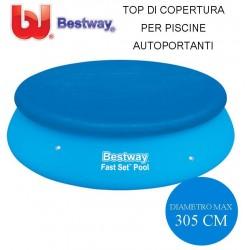 TOP DI COPERTURA PER PISCINE AUTOPORTANTI Ø CM. 305 - BESTWAY 58033
