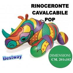 RINOCERONTE POP SALVAGENTE CAVALCABILE GIGANTE CON MANIGLIE CM. 201X102 BESTWAY 41116
