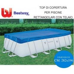 TOP DI COPERTURA PER PISCINE RETTANGOLARI 282X196- BESTWAY 95065