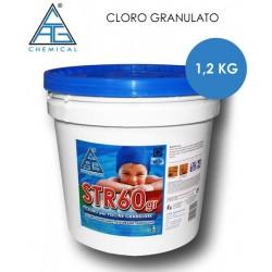 CLORO GRANULATO PER PISCINE STR60 1.2 KG.