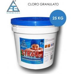 CLORO GRANULATO PER PISCINE STR60 25 KG.