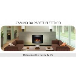 CAMINO ELETTRICO A PARETE CAMINETTO EFFETTO FIAMMA 900-1800W