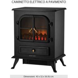 CAMINO ELETTRICO CAMINETTO A PAVIMENTO TEPORUS 900-1800W