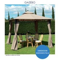 GAZEBO IN ALLUMINIO EDEN CM.300X300